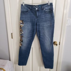 Inc Embroidered Jean's Size 14